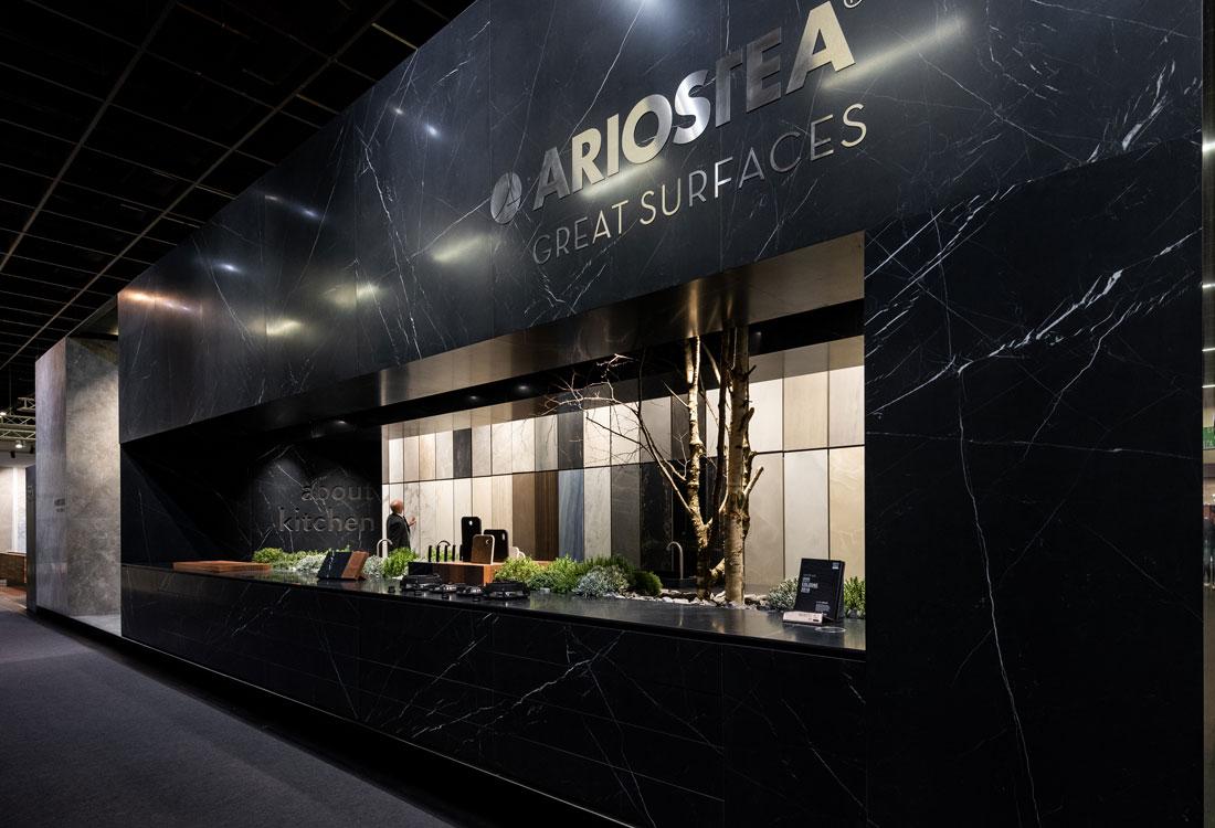 Ariostea nimmt an der living kitchen ariostea news