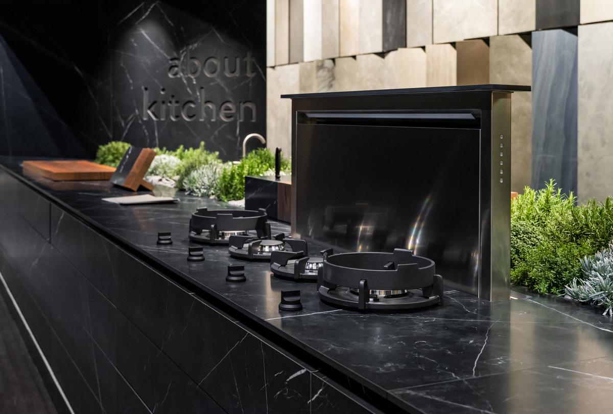 Ariostea stand living kitchen messen und events ariostea